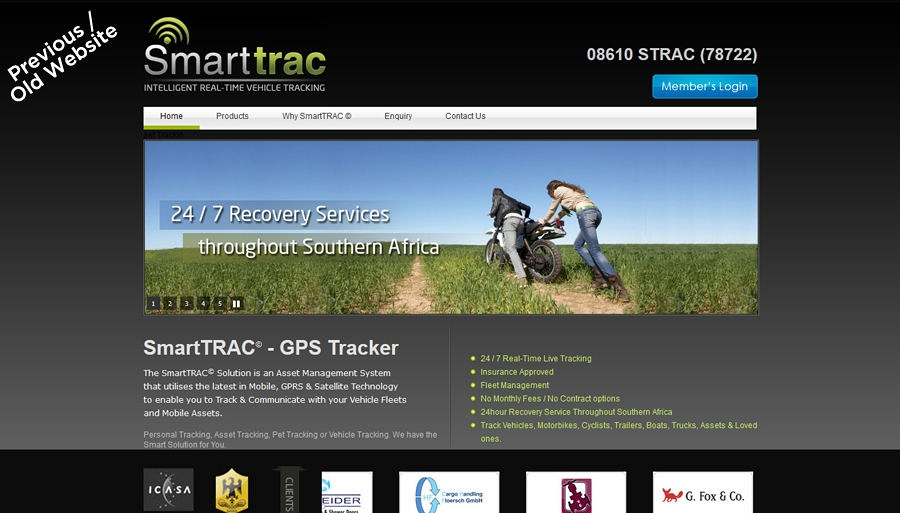 Smarttrac Old / Previous Website